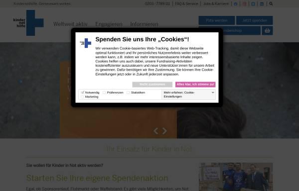 Vorschau von www.kindernothilfe.de, Kindernothilfe