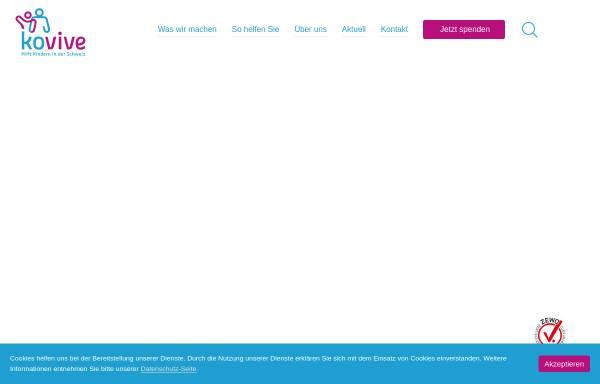Vorschau von kovive.ch, Kovive - Ferien für Kinder in Not