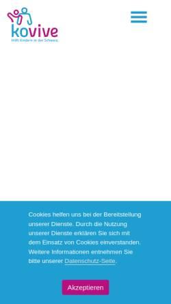 Vorschau der mobilen Webseite kovive.ch, Kovive - Ferien für Kinder in Not