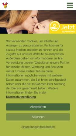 Vorschau der mobilen Webseite www.mcdonalds-kinderhilfe.org, McDonald's Kinderhilfe Stiftung