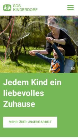 Vorschau der mobilen Webseite www.sos-kinderdorf.at, SOS-Kinderdorf