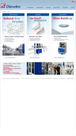 Vorschau der mobilen Webseite www.duerselen.de, Dürselen GmbH