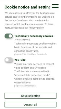 Vorschau der mobilen Webseite www.ema-gmbh.com, EMA GmbH