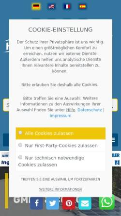 Vorschau der mobilen Webseite www.steinfels-kg.de, Helmut Steinfels GmbH & Co. KG