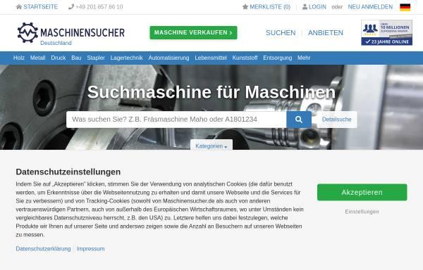 Vorschau von www.maschinensucher.de, Maschinensucher.de