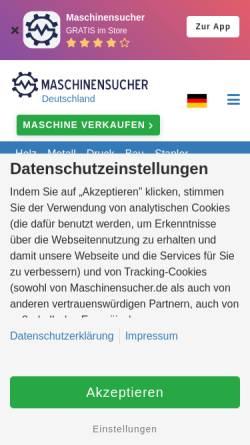 Vorschau der mobilen Webseite www.maschinensucher.de, Maschinensucher.de