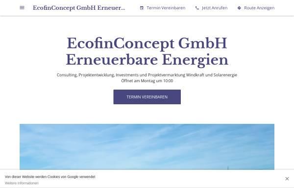 Vorschau von ecofinconcept-gmbh-erneuerbare-energien.business.site, EcofinConcept GmbH