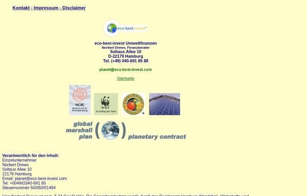 Vorschau von www.eco-best-invest.com, Norbert Drews - Finanzberater