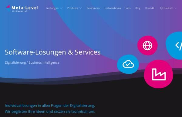 Vorschau von www.meta-level.de, Meta-Level Software AG