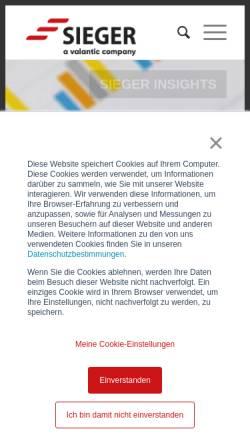 Vorschau der mobilen Webseite www.sgc.de, SieGer Consulting GmbH & Co.KG