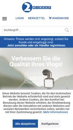 Vorschau der mobilen Webseite www.2direct.de, 2direct GmbH