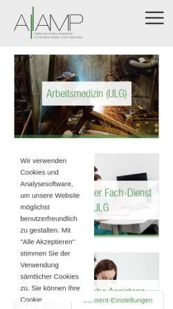 Vorschau der mobilen Webseite www.aam.at, Österreichische Akademie für Arbeitsmedizin [AAm]