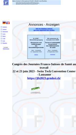 Vorschau der mobilen Webseite www.sohf.ch, Schweizer Verband der Betriebsärzte im Gesundheitsdienst (SOHF)
