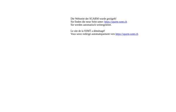 Vorschau von www.sgarm.ch, Schweizerische Gesellschaft für Arbeitsmedizin (SGARM)