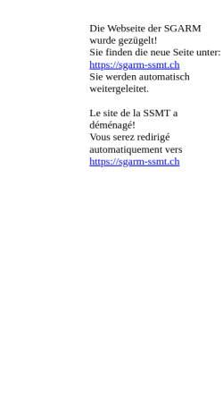 Vorschau der mobilen Webseite www.sgarm.ch, Schweizerische Gesellschaft für Arbeitsmedizin (SGARM)