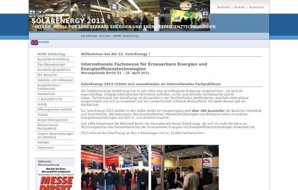 Vorschau von www.solarenergy-berlin.de, Solarenergy-berlin.de