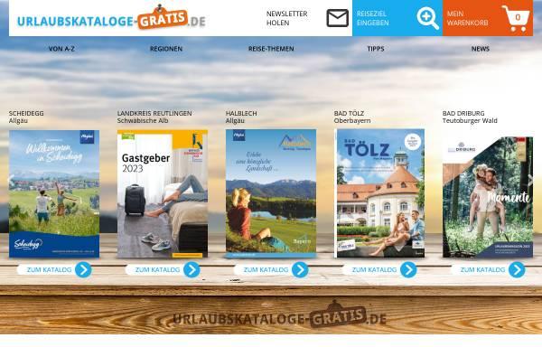 Vorschau von www.urlaubskataloge-gratis.de, Gratis-Reisekataloge Deutschland