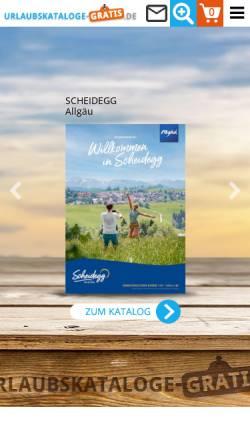 Vorschau der mobilen Webseite www.urlaubskataloge-gratis.de, Gratis-Reisekataloge Deutschland