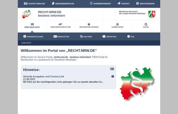 Vorschau von recht.nrw.de, recht.nrw.de