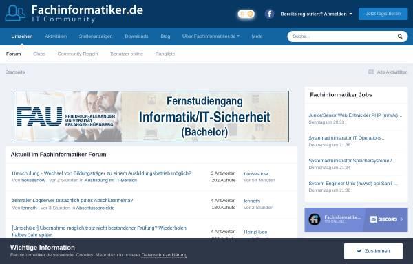 Vorschau von www.fachinformatiker.de, Fachinformatiker.de