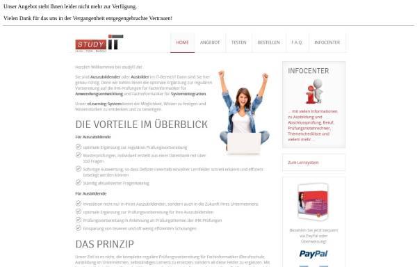 Vorschau von www.studyit.de, Prüfungsvorbereitung für angehende Fachinformatiker