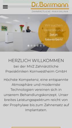 Vorschau der mobilen Webseite www.drborrmann.de, Dr. med. dent. Borrmann
