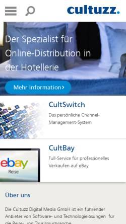 Vorschau der mobilen Webseite www.cultuzz.de, Cultuzz Digital Media GmbH