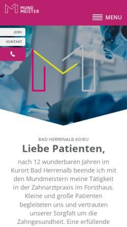 Vorschau der mobilen Webseite www.zahnarzt-ettlingen.de, Dr. med. dent. Michael Hummel M. Sc., Claudia Malchow und Dr. med. dent. Pierre Magnin M. Sc.