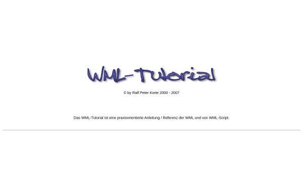 Vorschau von www.wml-tutorial.de, WML-Tutorial