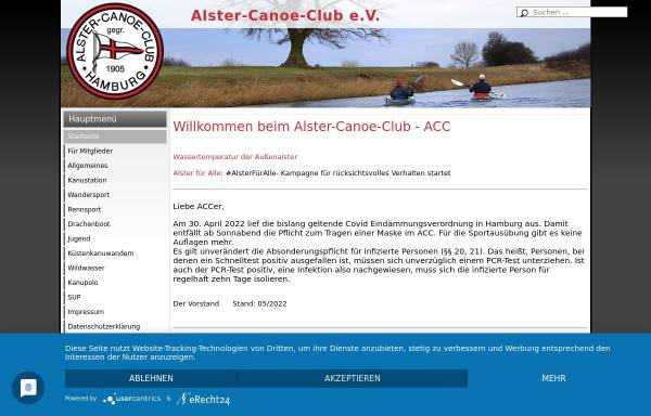Vorschau von www.alster-canoe-club.de, Nikolausregatta des Alster-Canoe-Club e.V. in Hamburg (Spaßregatta)