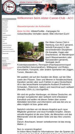 Vorschau der mobilen Webseite www.alster-canoe-club.de, Nikolausregatta des Alster-Canoe-Club e.V. in Hamburg (Spaßregatta)