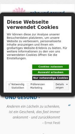 Vorschau der mobilen Webseite www.zahnundgesund.de, Dr. Thomas Maier