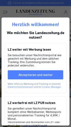 Vorschau der mobilen Webseite www.landeszeitung.de, Landeszeitung für die Lüneburger Heide