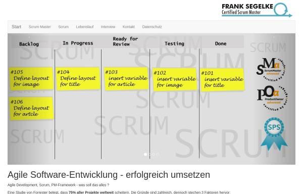 Vorschau von segelke.de, Web-Publishing, Frank Segelke