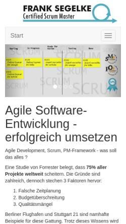 Vorschau der mobilen Webseite segelke.de, Web-Publishing, Frank Segelke