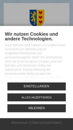 Vorschau der mobilen Webseite www.lueneburg.de, Lüneburg online - Hansestadt Lüneburg