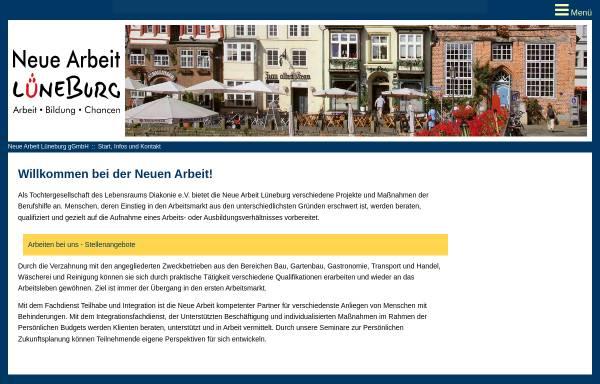 Vorschau von www.neue-arbeit-lueneburg.de, Neue Arbeit Lüneburg gGmbH
