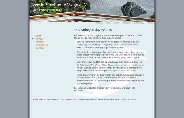 Vorschau von www.spirituelle-wege.de, Spirituelle Wege e.V.