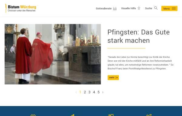 Vorschau von www.bistum-wuerzburg.de, Würzburg - Bistum