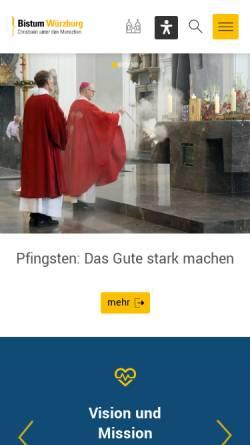 Vorschau der mobilen Webseite www.bistum-wuerzburg.de, Würzburg - Bistum