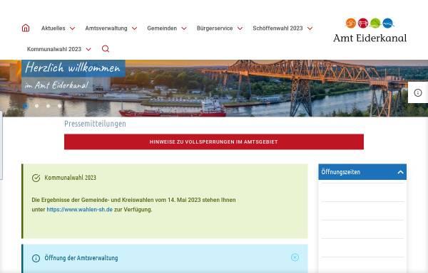 Vorschau von www.amt-eiderkanal.de, Amt Eiderkanal