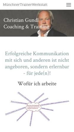 Vorschau der mobilen Webseite www.christian-gundl.de, Münchner Trainer Werkstatt - Christian Gundl