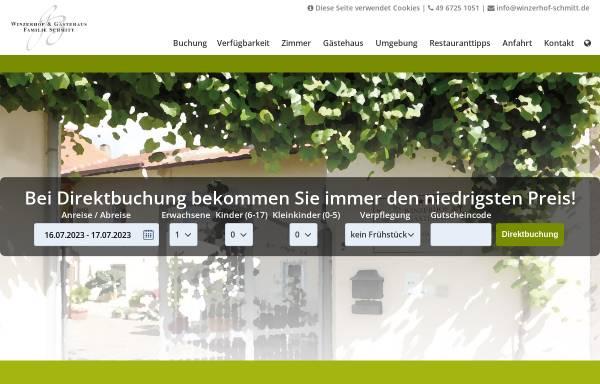 Vorschau von www.winzerhof-schmitt.de, Winzerhof und Gästehaus Schmitt