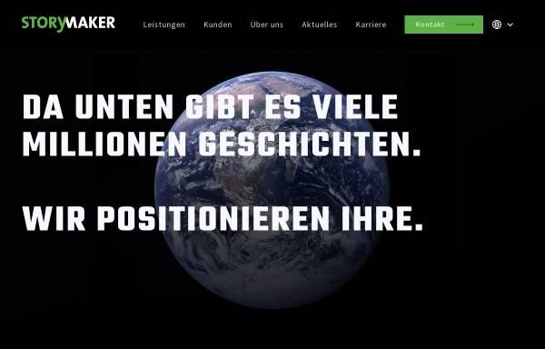Vorschau von www.storymaker.de, Storymaker Agentur für Public Relations GmbH