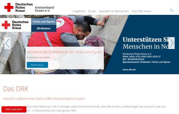 Vorschau von www.drk-essen.de, DRK Kreisverband Essen e.V. - Rotkreuzbereitschaft Rettungsdienst / Krankentransport