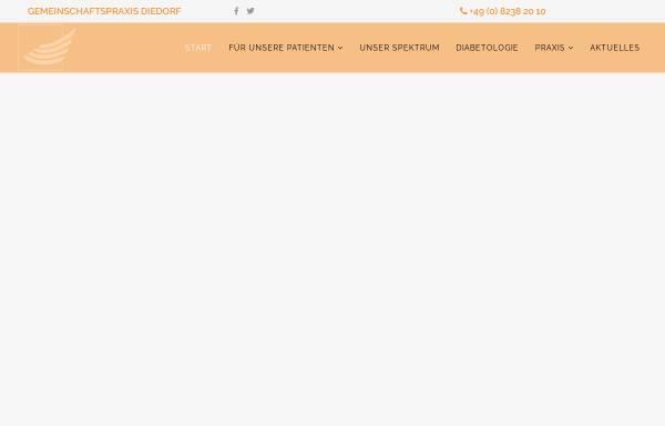 Vorschau von www.gemeinschaftspraxis-diedorf.de, Gemeinschaftspraxis Diedorf