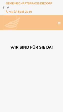 Vorschau der mobilen Webseite www.gemeinschaftspraxis-diedorf.de, Gemeinschaftspraxis Diedorf