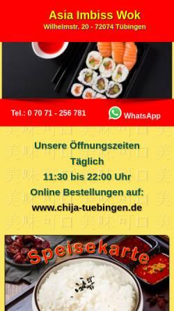 Vorschau der mobilen Webseite www.wok-in.de, Asia-Imbiss Wok-In