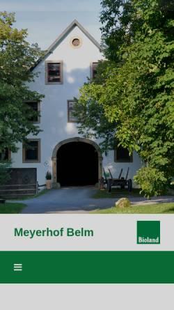 Vorschau der mobilen Webseite www.meyerhof-belm.de, Meyerhof
