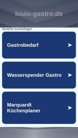 Vorschau der mobilen Webseite louis-gastro.de, Aura